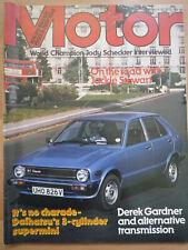 1979 MOTOR 29 Sep Daihatsu Charade G10 MG history & cars Borg-Warner automatic