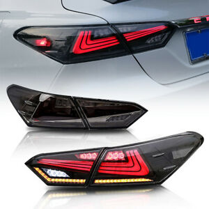 Smoke Tail Lights Lamps For Toyota Camry 2018 2019 2020 2021 Start-up Animation
