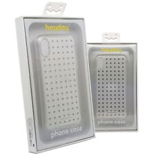 Heyday Rigid Plastic Printed Gold Dots Clear Fitted Case Cover For iPhone X/XS