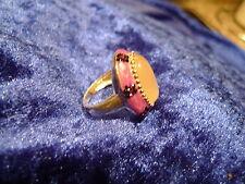 edler Ring__925 Silber__mit gr.Stein__kleinen Steinen__tw. Emailiert__!