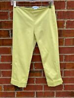 """Emilio Pucci Neon Yellow Cropped Pants Size Small Summer Spring Pants Waist 28"""""""