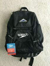 Brand New - Speedo Teamster 35L Swim Backpack Swim, Black w/National Team Logo