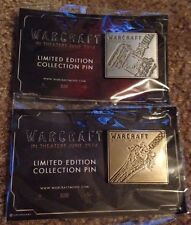 Comic Con 2015 Exclusive Warcraft Movie RARE Pin SET OF TWO