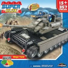 Cra-Z-Art Super Blox Deluxe - Mega Tank 357 pieces, Brand New!