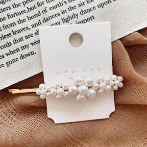 Nice Fashion Lady Pearl Plush Barrette Hair Clip Stick Hairpin Hair Accessories