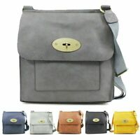 Ladies Women Crossbody Bag Messenger Flap Over Shoulder Bags New UK
