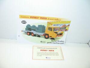 1 Sheet + Certif. Dinky Toys Atlas Repro Ref 569 P, Berliet Stradair Ring Tool