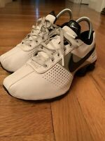 Nike Shox 318130-110 Running Shoes White Black Silver 2010 Size 4.5y