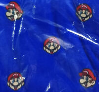 Men's Nintendo Super Mario Head Pajama Lounge Sleep Pants Blue Large-4XL