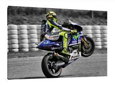 Valentino Rossi 30x20 Inch Canvas - LARGE Moto GP Framed Picture Poster Yamaha