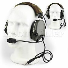 Tactical MSA SORDIN Noise Reduction Radio Headset For Airsoft Paintball EarMuff