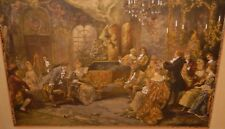 "VINCENT. DE PAREDES ""MOZZART AT THE COURT OF MARIE ANTOINETTE ORIGINAL OLD PRINT"