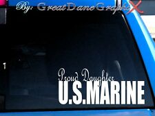 Proud Daughter US Marine Vinyl Car Decal Sticker / Choose Color - HIGH QUALITY