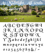 Alphabet Letter stencil #180  A - Z & numbers  2, 3, 4, 5 or 6cm sizes FREE POST