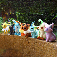 Pocket Monster Pokemon Eevee Soft Plush Toy Stuffed Animal Doll Kids Gift 7.09''