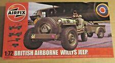 Airfix BRITISH AIRBORNE Jeep Willys 1:72 Escala Modelo Kit 10 CWT Remolque Howitzer