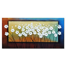 Framed Hand Paint Oil Painting on Canvas Home Decor Wall Art Abstract Flowers