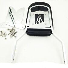 Flame Backrest Sissy Bar w/ Leather Pad For Honda Shadow ACE 1100/Tourer/Sabre