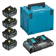 MAKITA 197626-8  chargeur rapide double + 4 batteries 5Ah + Mak-Pac Taille 3