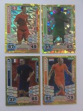 Match Attax 2014 World Cup Lichtsteiner Moses Ribery Robben Shiny Trading Cards