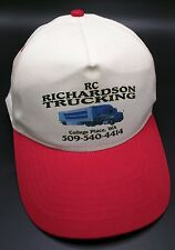 RC RICHARDSON TRUCKING COLLEGE PLACE, WA red / white adjustable cap / hat