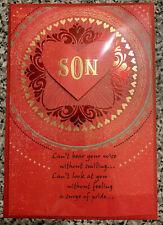 HAPPY VALENTINE'S DAY SON HALLMARK GREETING CARD