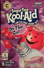 GRAPE KOOL-AID LOW CALORIE DRINK MIX 6 PACKS ON THE GO