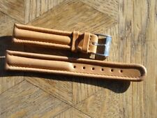 MDG Vintage N.O.S BREITLING leather strap with original Steel BUCKLE 15 mm. N°2.