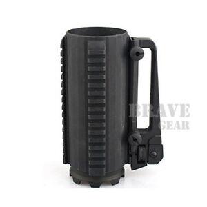 Emerson Tactical Cup Aluminum Battle Mug Black w/ Rail & Rear Sight Handle 600ml