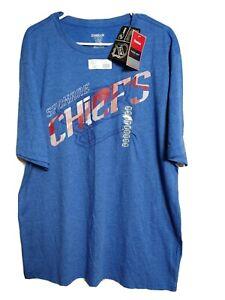 Reebok Men's New Size 2XL Spokane Chiefs Team Short Sleeve T-shirt(#m4