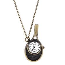 Vintage Tennis Racket Quartz Watches Vintage Pocket Watch Necklace NEW Xmas Gift
