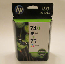 Genuine HP 74XL 75XL Ink Cartridges Combo-Pack Sealed