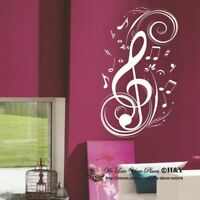 Music Notation Notes Removable Wall Art Stickers Vinyl Decal Paper Decor DIY