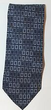 Classic Guy Laroche Paris Men Neck Tie Blue Geometric Print 100% Silk