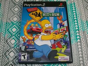 CASE/MANUAL ONLY - The Simpsons: Hit & Run (PlayStation 2) PS2 Genuine Original