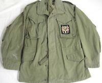 US Military Mens Cold Weather Coat Field Jacket Green Small Long John Ownbey