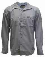 New Men's Designer Bravesoul Vulcan Long Sleeve Hooded Casual Button Up Shirt