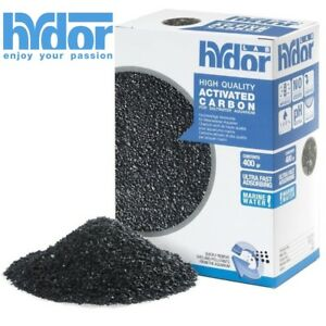 Hydor 400gm Activated Carbon for Aquarium Filter Media Saltwater Marine Tanks