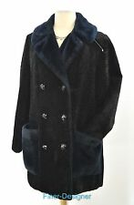 Davis of Boston Jonathan Logan Faux Fur Persian Lamb Pile Coat jacket SZ S M VTG
