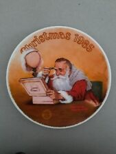 """Grandpa Plays Santa""1985 Rockwell Christmas Plate"