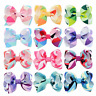 Wholesale 12pcs Handmade Baby Kids Girls Ribbon Bow Flower Hair Clips Alligator