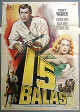 XB44D FORT DOBBS CLINT WALKER VIRGINIA MAYO orig 1sh SPANISH POSTER
