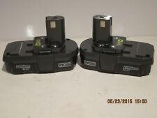 Ryobi One+(2) P102 18v Compact Lith-Ion Batteries Li-Ion-DEMO/DISPLAY NWOB FSHP