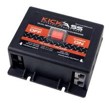 KICKASS 12 Volt 140 AMP Voltage Sensitive Relay Quick Connect Dual Sensing VSR