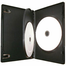 100 X Cd Dvd 14mm negro DVD de 3 vías, Funda De Disco 3-Pack De 100