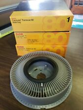 Lot of 3 Kodak Carousel Transvue 80 Slide Rotary Slide Tray w/boxes