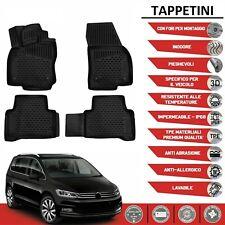 Tappetini per VW TOURAN DAL 2016+ in forma 3D tappetini in gomma con bordo