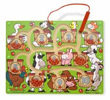Melissa & Doug - Wooden Magnetic Wand Number Maze Puzzle
