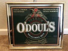 Vintage Odouls Non Alchoholic Brew Mirror Bar sign Man Cave Anheuser-Busch 19x16