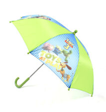 TOY STORY: WOODY, BUZZ LIGHTYEAR & GANG CHILDREN'S UMBRELLA IN GREEN/BLUE (BNWT)